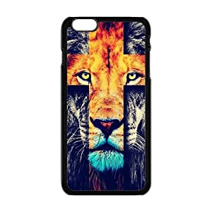 iPhone6 Plus 5.5 Case,Fashion Lion Cross & Jesus Christ Cross Personalized Design Cover With Hign Quality Hard Plastic Protection Case