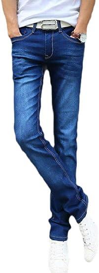 maweisong メンズ ストレート ウォッシュ ファッション ストレッチ デニム ジーンズ パンツ