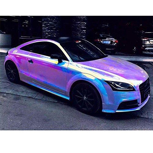 Hoho Holographic Rainbow Neo Chrome Car Vinyl Wrap Bubble