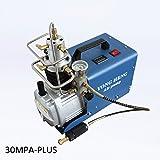 High Pressure Electric Air Compressor Pump 300BAR 30MPA 4500PSI 50L/MinInflation Bottle PCP Inflator Pneumatic Airgun Scuba Rifle (110V 60HZ)