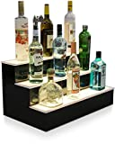 "24"" 3 Step Led Lighted Bottle Display Shelf with LED Color Changing Lights"