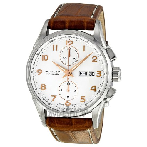 Hamilton Jazzmaster Maestro White Dial Leather Strap Mens Watch H32576515