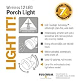 Light It! By Fulcrum, 12-LED Motion Sensor Security Light, Wireless, Battery Operated, Silver