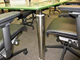 Modern Tempered Glass Conference Table 10' by