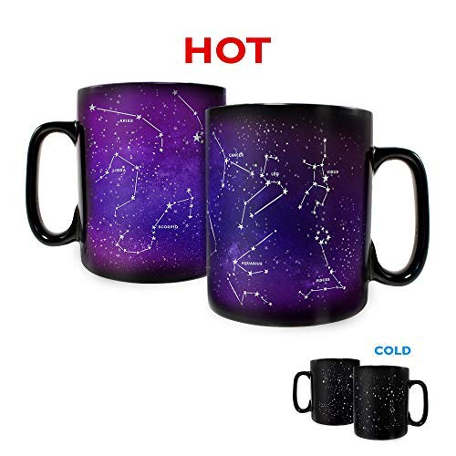 Trend Setters Ltd. - Zodiac Constellations - Astrology Horoscope Stars Birthday - Morphing Mugs Heat Sensitive Clue Mug - Hidden image appears when hot liquid is added