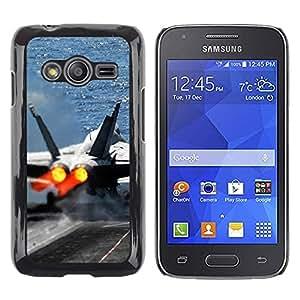 Smartphone Rígido Protección única Imagen Carcasa Funda Tapa Skin Case Para Samsung Galaxy Ace 4 G313 SM-G313F Fighter aircraft / STRONG