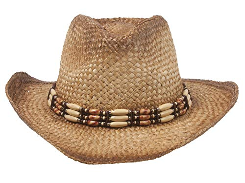 Outback Tea Stained Straw Hat-Shade Off Tea Stain ()