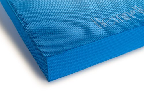 "HemingWeigh Exercise Balance Pad, Non Slip Textured Surface Cushioned Foam Mat and Knee Pad Perfect for Stability Training, Yoga, and Physical Therapy (Blue (19""x 15""x 2.5""))"