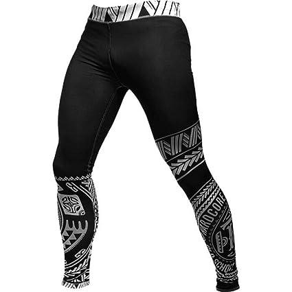 Hardcore Training Compression Pants For Men Ta Moko Black ...
