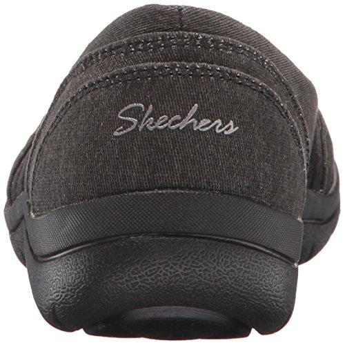 Skechers - Pantal�n plano para mujer Lite, negro