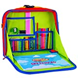 #5: Creative Kids Travel Fun Desk – Portable Car Seat Tray Organizer w/Drawing Coloring Set – Backpack Activity Station w/Storage for Tablet, Crayons, Crafts & Other Road Trip Supplies - 30 Piece Kit