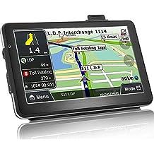 Car GPS Navigation 7 Inch Car Truck Lorry GPS Windows SAT NAV Satellite Navigation System 8 GB Touchscreen Navigator with HD SpeedCam POI MP3 Lifetime Maps (Upgraded Version)