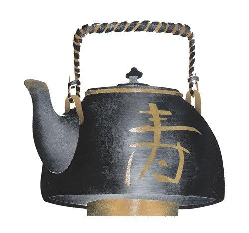 Oriental Teapot Wall Stencil - DEE637 by DeeSigns