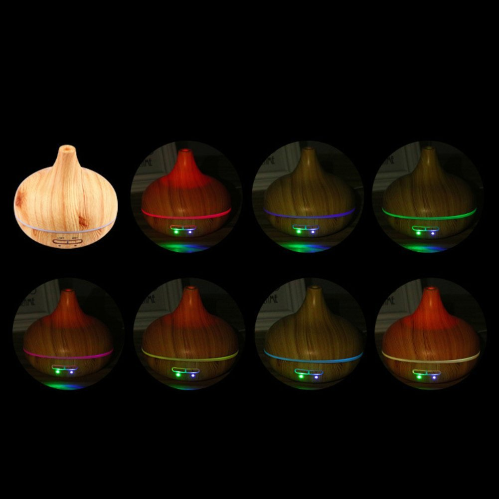 Softmusic 235ml Large Capacity LED Light Wood Grain Home Aroma Essential Oil Diffuser Purifier Humidifier - Light Wood Grain by Softmusic (Image #4)