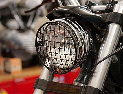 "Rejilla Negra x Foco de 5-3/4"" Headlight Stoneguard Moto Harley Davidson"