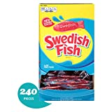 240 Count Bulk SWEDISH FISH Soft and Chewy Candy, Individually Wrapped Packs