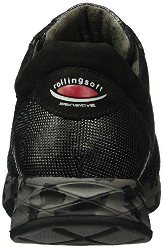 Gabor Shoes Rollingsoft, Zapatos de Cordones Derby para Mujer Negro (Schwarz K/S Cf 87)