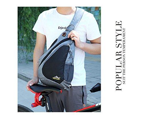Sling Bolsa de hombro mochilas bolsas Sling Pack, pecho hombro Crossbody Mochila de senderismo deporte mochila bolso de escuela Mochila de bicicleta para hombres mujeres Chico chica, morado morado