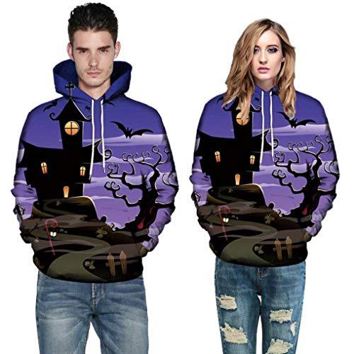 Halloween Clothing,Gillberry Couples Coat 5D Print Long Sleeve Blouse Hoodies Jacket