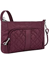 Women's Anti-Theft Signature E/w Slim Shoulder Bag, Wineberry, One Size