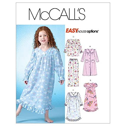 Image Unavailable. Image not available for. Color  McCall s Patterns M4646  Children s Girls  Robe ... 131e163e5