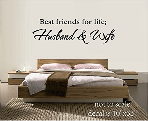 BEST FRIENDS FOR LIFE HUSBAND & WIFE VINYL WALL DECAL LETTERS HOME DECOR BED ROOM Best Friends Wall