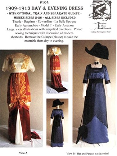 Vintage Tea Dresses, Floral Tea Dresses, Tea Length Dresses 1909-1913 Edwardian Pattern $18.00 AT vintagedancer.com