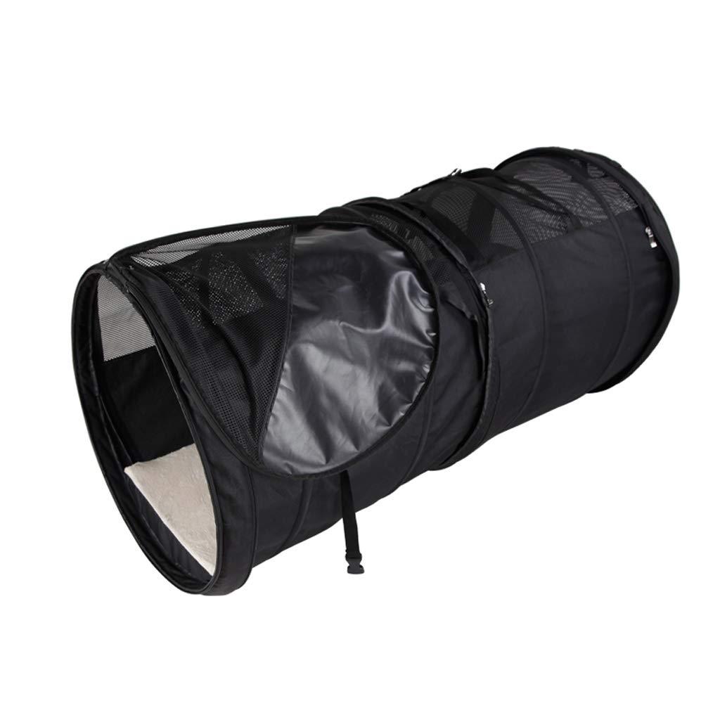 Retractable Pet Bag Foldable Pet Bag Car Bag (Black For Medium Pets)