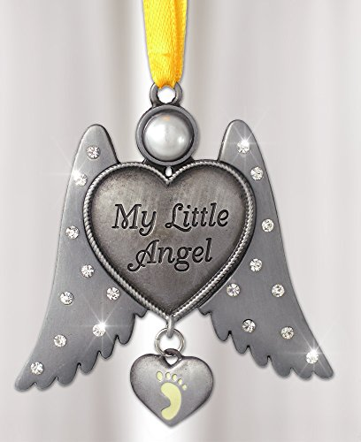 Jeweled Angel Hanging Ornament Baby Foot - Footprints Heart Shopping Results