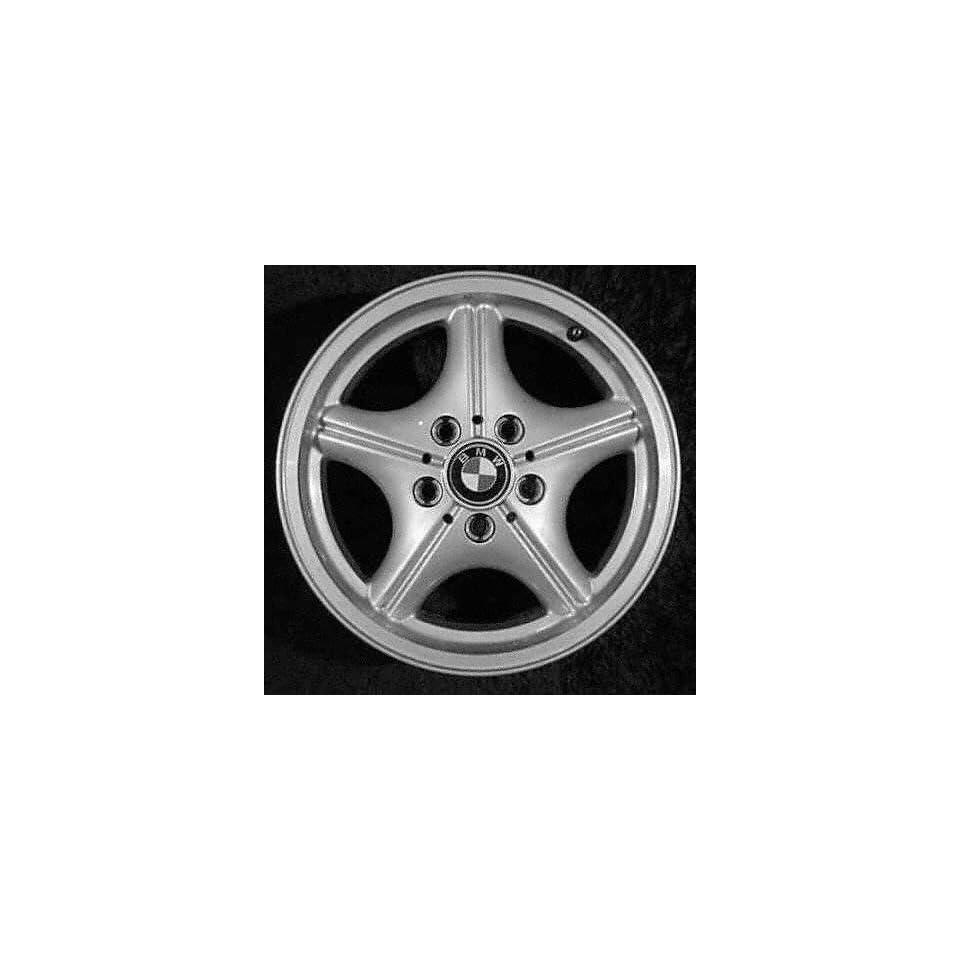 96 02 BMW Z3 ALLOY WHEEL RIM 16 INCH, Diameter 16, Width 7 (5 SPOKE), 46mm offset Style #35, SILVER, 1 Piece Only, Remanufactured (1996 96 1997 97 1998 98 1999 99 2000 00 2001 01 2002 02) ALY59212U10