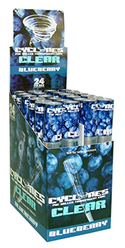 Cyclones Pre-Rolled Clear Cigar Tube - Blueberry - 24pc Display ()