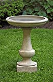 Campania International B-152-NA Chatham Birdbath, Natural Finish