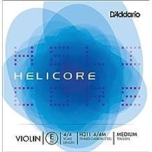 D'Addario Helicore Violin Single E String, 4/4 Scale, Medium Tension
