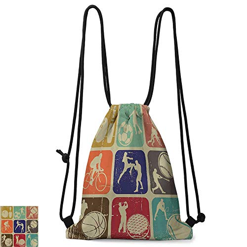 1a3f1047a5 ... travel bag and more. Personality backpack Sports Decor Assorted Sports  Banners In Vintage Grunge Effect Tennis Soccer Bowling Sports Pub Theme  Decor ...