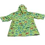 Pluie Pluie Boys Outerwear Green Frog Print Unlined Raincoat 12M-8