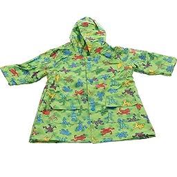 Pluie Pluie Boys Outerwear Green Frog Unlined Raincoat 4/5