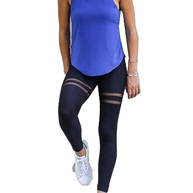 Yoga Fliegend Mesh High Hosen Leggings Patchwork Damen Waist qIw8R