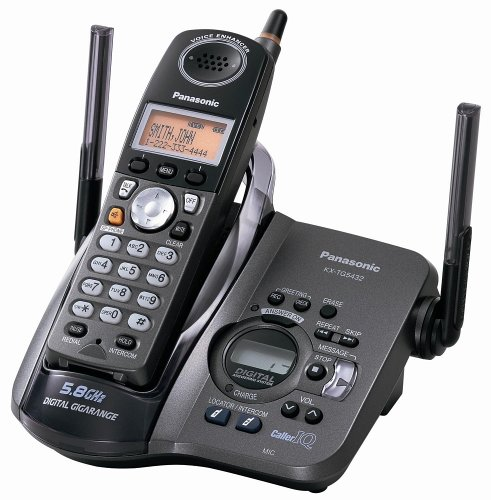 - Panasonic KX-TG5431B 5.8 GHz FHSS GigaRange Single-Handset Phone System with Answering System - Black