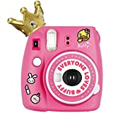 Fujifilm Instax Camera Mini 9 Buffy Imperial Crown Instant Film Camera Yellow Automatic Instant Film Photo Camera Rose Duck Sister(Global Limited Edition)