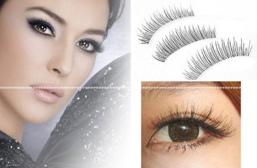 Image Gallery natural false eyelashes