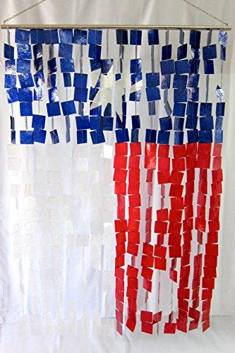 Capiz Shell Curtain - Capiz Shell Texas Flag
