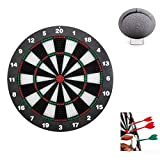 Muswanna Safety Dartboard Set,Soft Tip Safety Darts and Dart Board,16.5 Inch Professional Bristle Dartboard Set with 6 Darts,Great for Kids/Children/Adults,Outdoors Indoors Office Room Games,Family Leisure Game