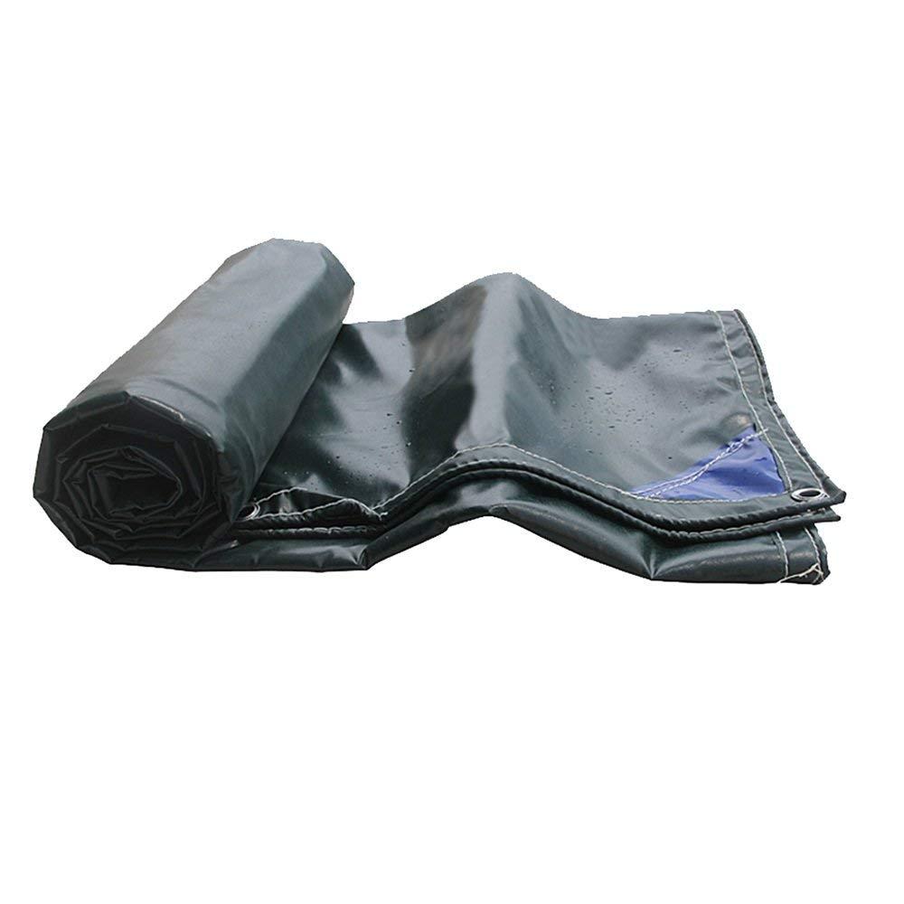 Yetta Feuerfestes Tuch PVC doppelseitig wasserdichtes Gewebe Cargo Garage Cover Sonnenschutz Einfach zu Falten grün (Größe   5.25  6m)