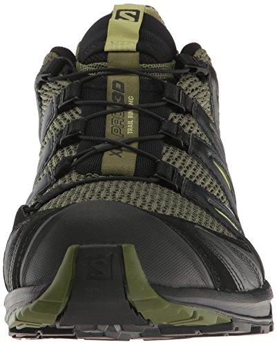 Salomon Xa Pro 3d, Zapatillas de Trail Running para Hombre Verde (Chive/Black/Beluga)