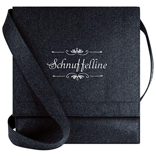 Halfar® Tasche mit Namen Schnuffelline bestickt - personalisierte Filz-Umhängetasche