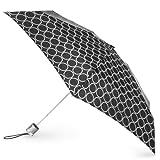 Totes  Signature Micro Manual Compact Umbrella, Metro Dot, One Size