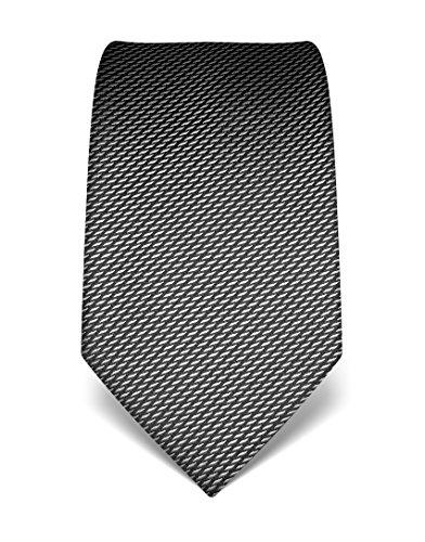 Vincenzo Boretti Men's silk tie patterned anthracite