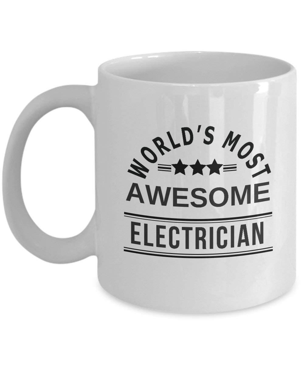 World's Most Awesome 電気技師用コーヒーマグ - 最高のおもしろコーヒーマグ ティーカップ 電気技師 感謝祭ギフト   B07HK6FSNL