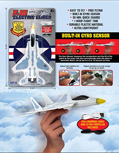 Daron Worldwide Trading Daron F-15 Electric (Electric Airplane Glider)