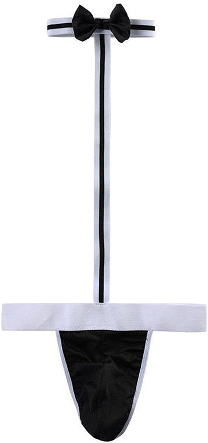 Men/'s Borat Bodysuit Mankini Waiter Thongs Underwear Lingerie G-string Bikini